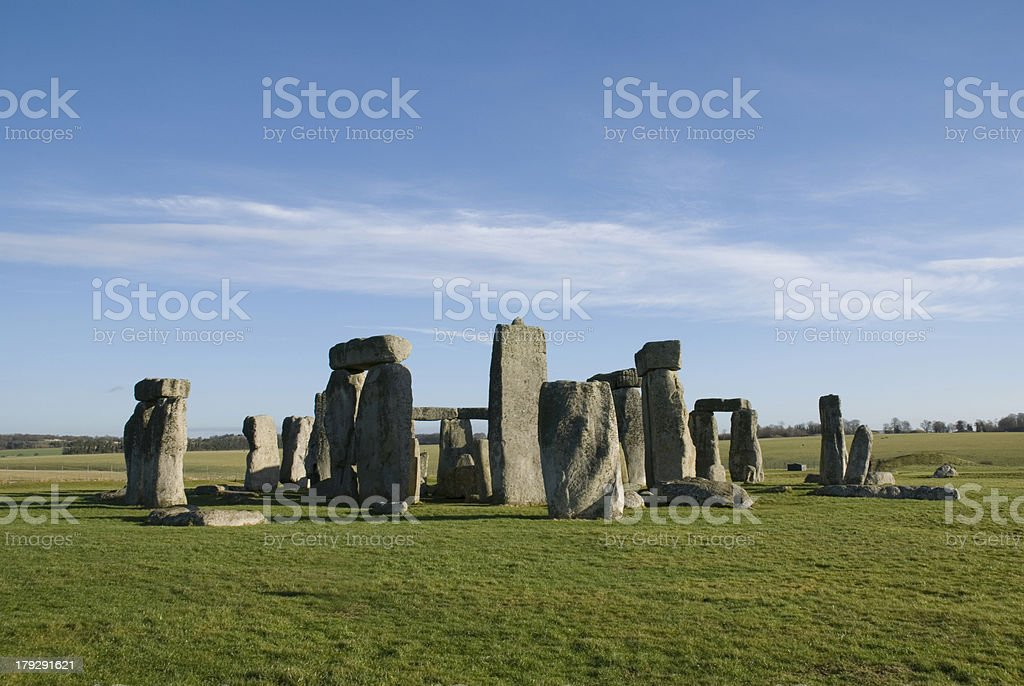 Stonehenge in Wiltshire County - England royalty-free stock photo