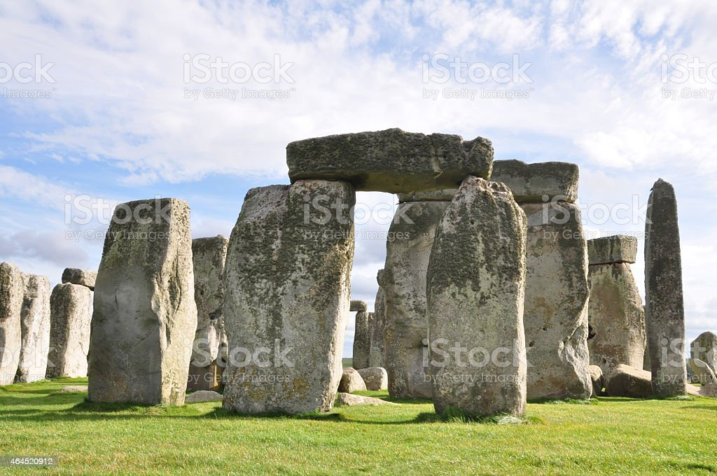 Stonehenge in Wiltshire, England. stock photo