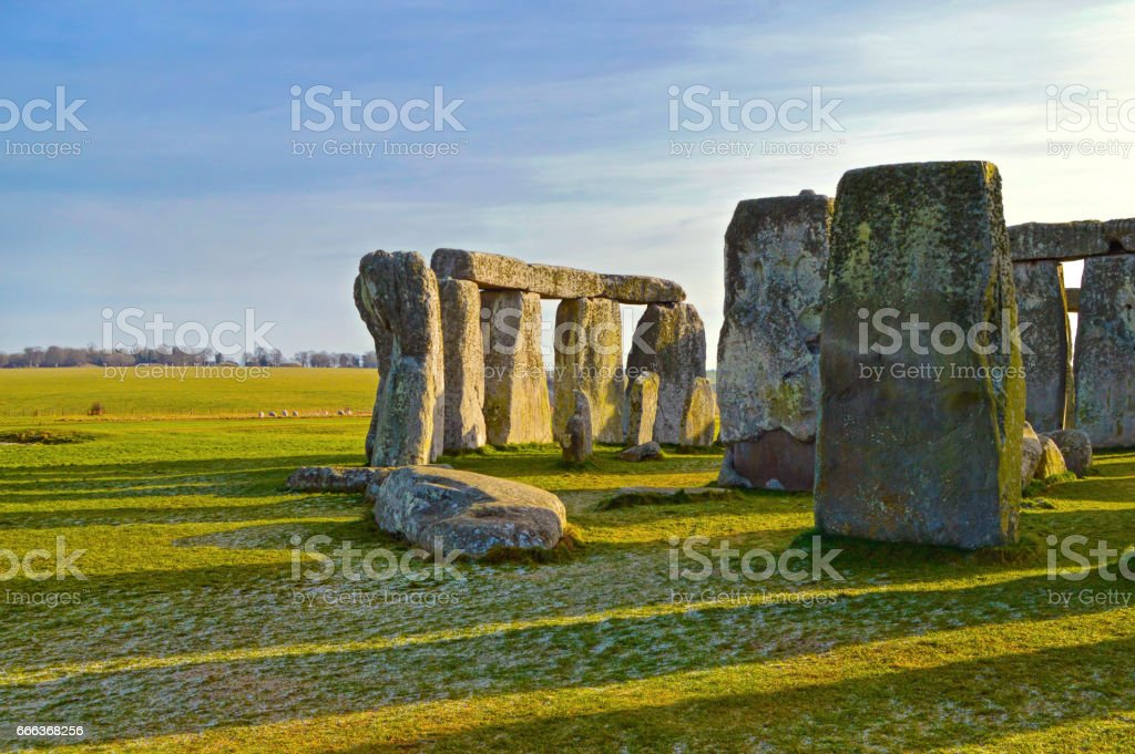 Stonehenge monument early morning view stock photo