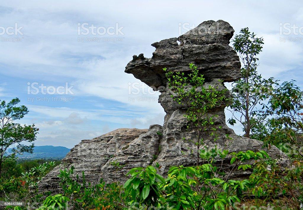 Stonehenge of Thailand (Mo Hin khao) at Chaiyaphum province Thailand stock photo