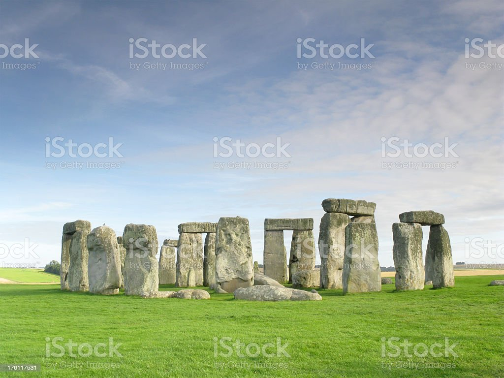 Stonehenge on an August evening. royalty-free stock photo