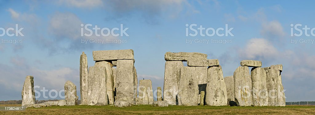 Stonehenge Panorama royalty-free stock photo