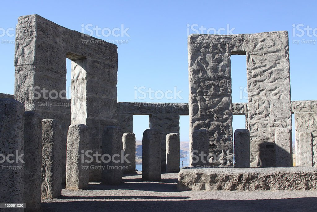 Stonehenge replica stock photo