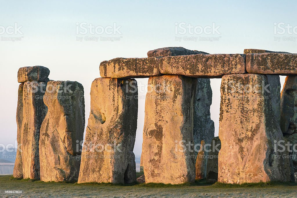 Stonehenge, Salisbury Plain, Wiltshire royalty-free stock photo