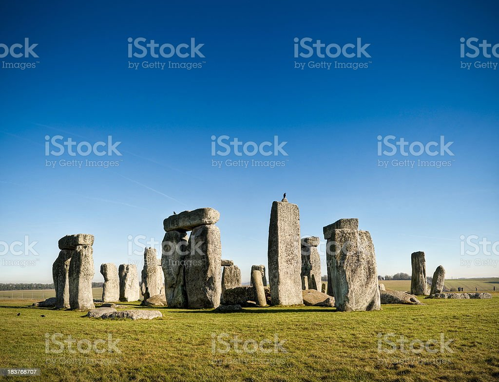Stonehenge, Salisbury Plain, Wiltshire, UK stock photo
