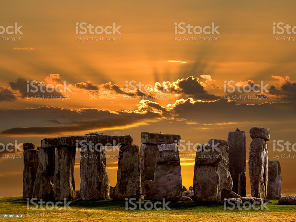 Stonehenge - Salsbury Plain - England. stock photo