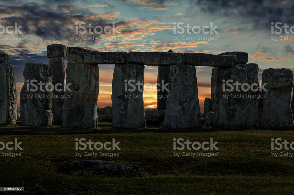 Stonehenge Winter Solstice stock photo
