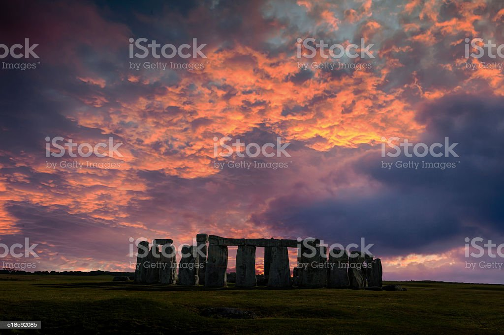Stonehenge Winter Solstice stock photo