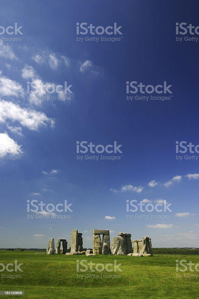Stonehenge with big sky royalty-free stock photo