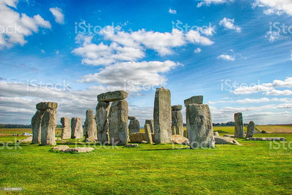 Stonehenge with Blue Sky stock photo