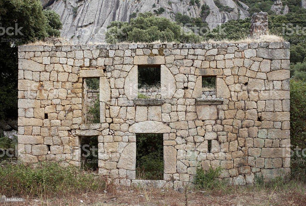 Stonehouse Abandoned stock photo