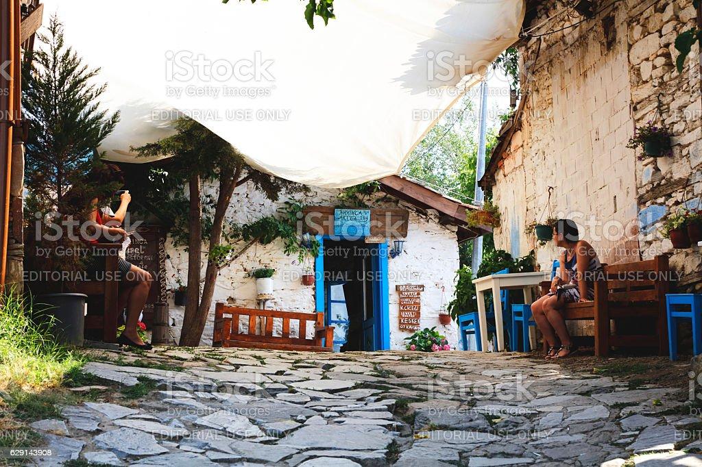 Stonehouse, Sirince village, Izmir Province, Turkey stock photo
