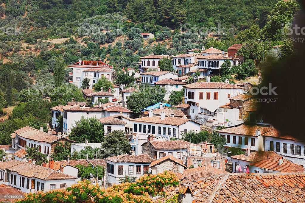 Stonehouse, Sirince village, Izmir Province, Turkey stock photo