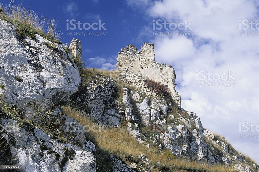 stones and clouds royalty-free stock photo