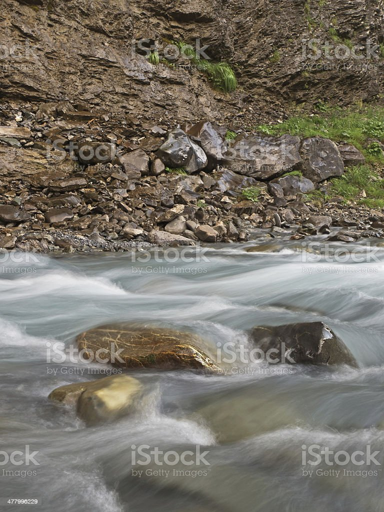 Stones and flowing water royalty-free stock photo