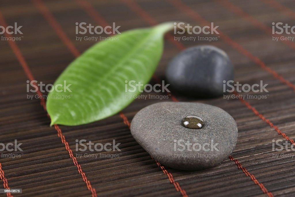 SPA kamienie i zielony liść zbiór zdjęć royalty-free