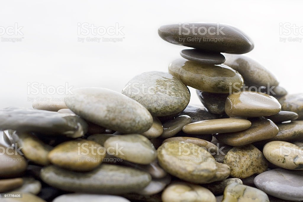 stones and pebbles piled up royalty-free stock photo