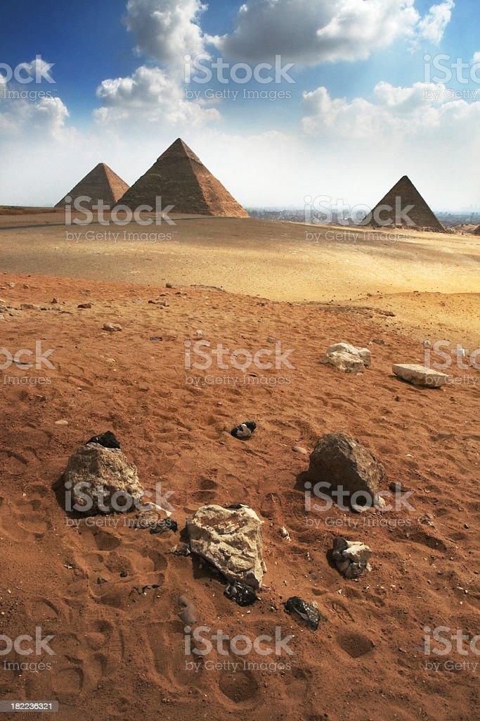 Stones and pyramids royalty-free stock photo