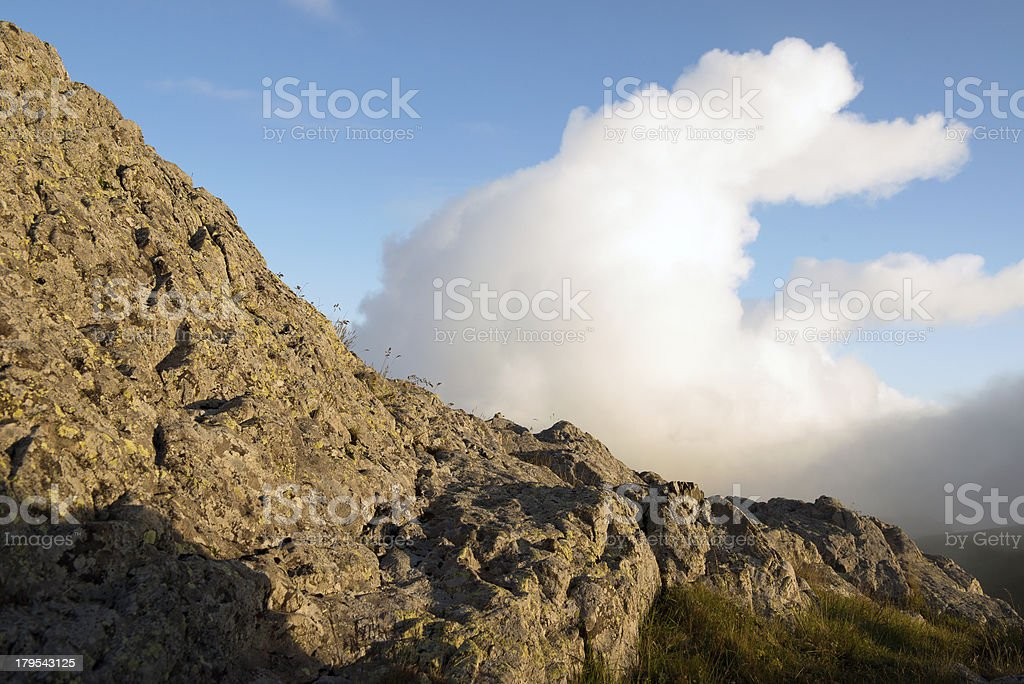 Stones and sunset time. royalty-free stock photo