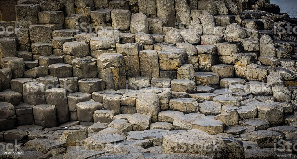 Stones at the Giants Causeway stock photo