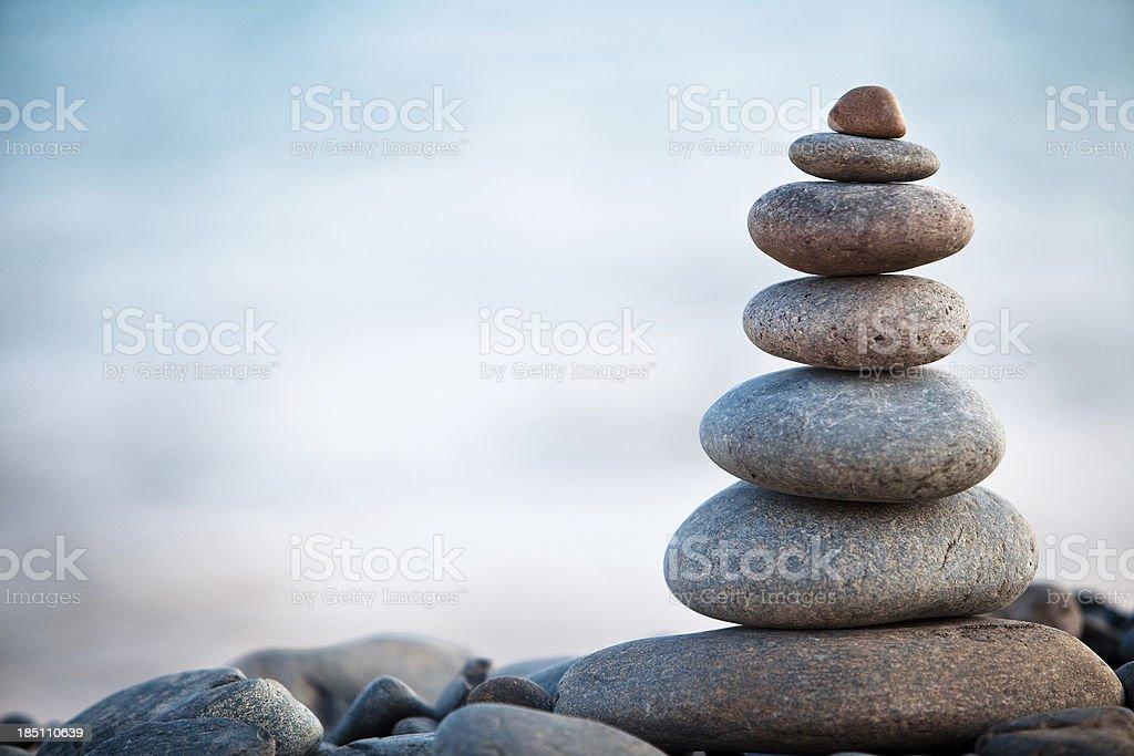 Stones balance - pebbles stack stock photo