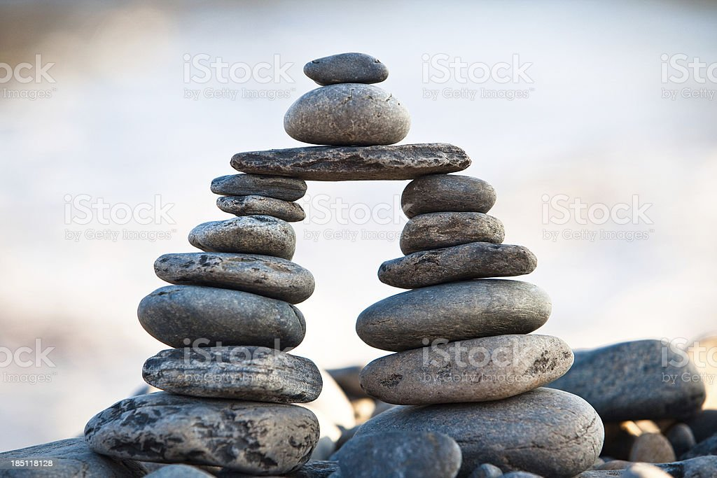 Stones balance - pebbles stack royalty-free stock photo