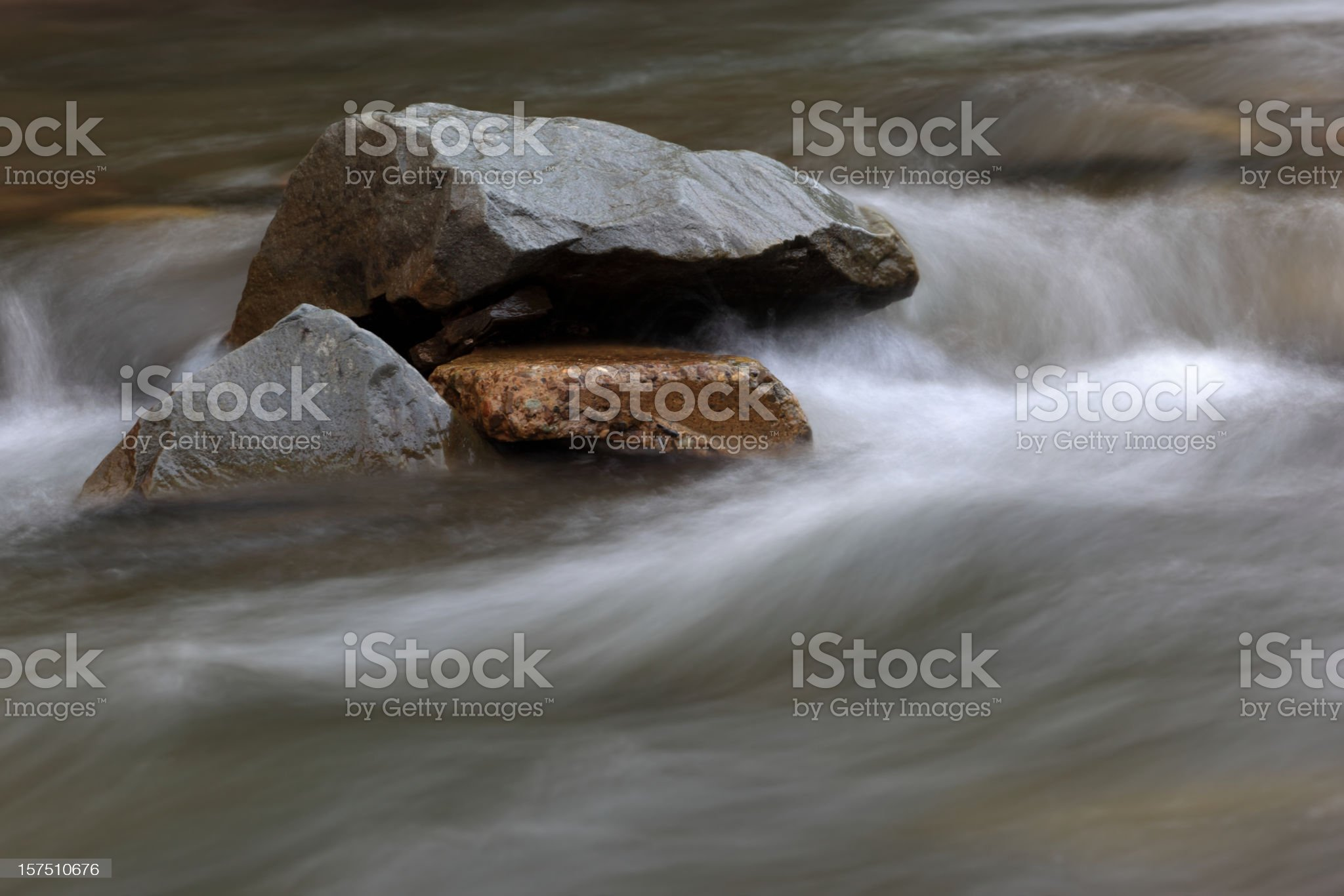 Stones in a river royalty-free stock photo