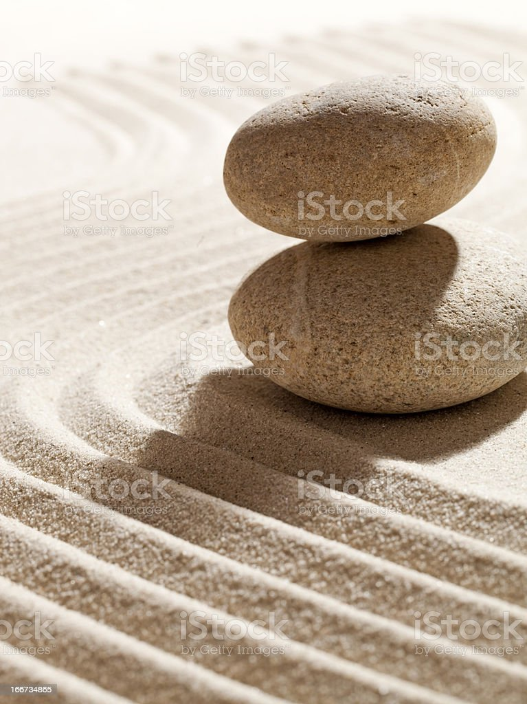 stones in balance for symbol of serenity royalty-free stock photo