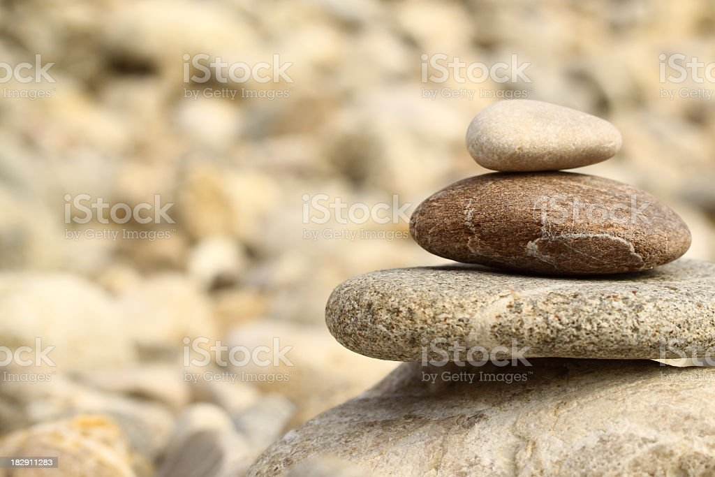 Stones in balance stock photo