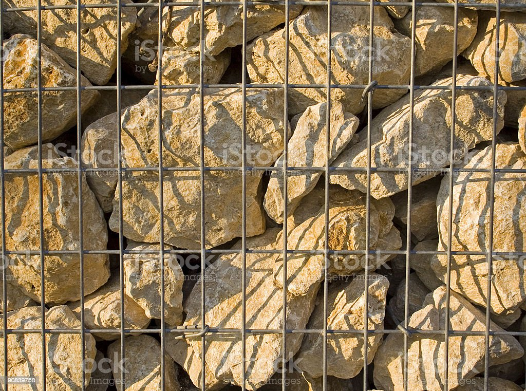 stones in cage landscape royalty-free stock photo