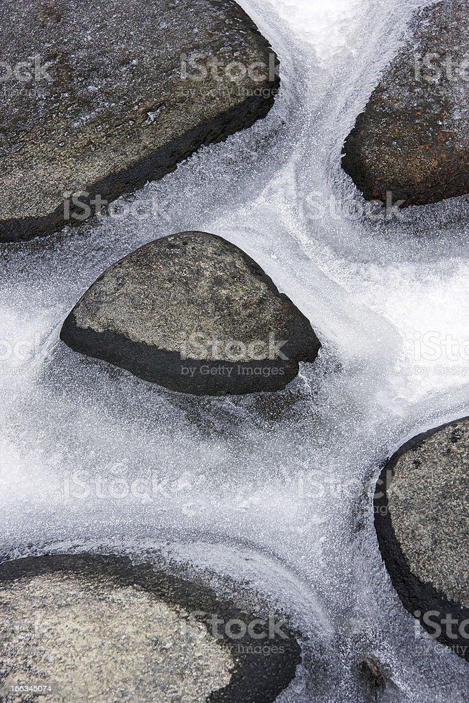 Stones in ice royalty-free stock photo