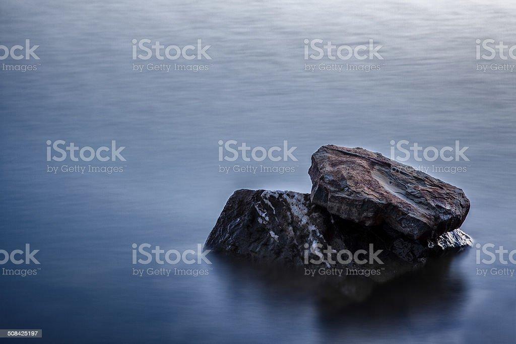 Stones in Lake stock photo