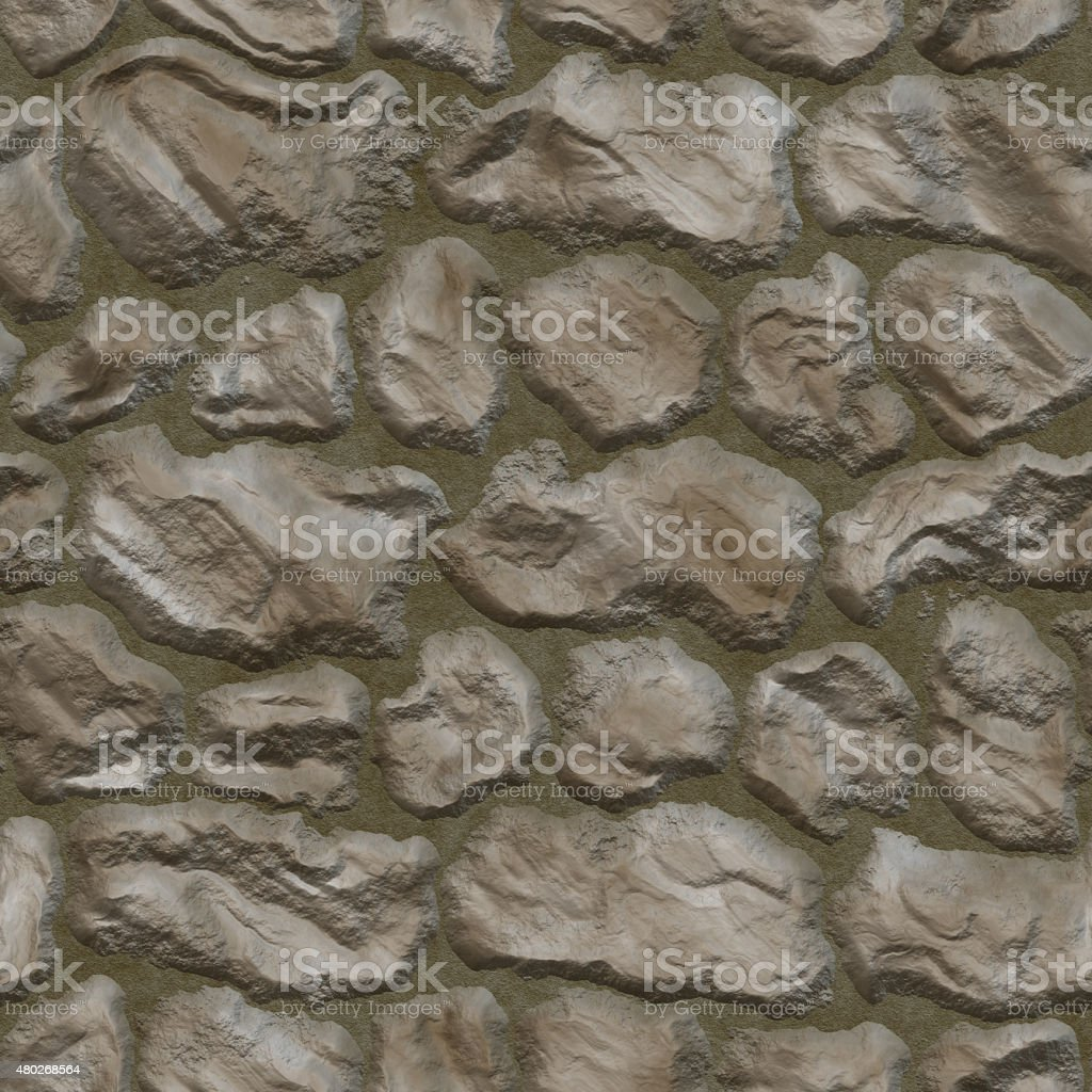 Stones in mortar seamless background stock photo