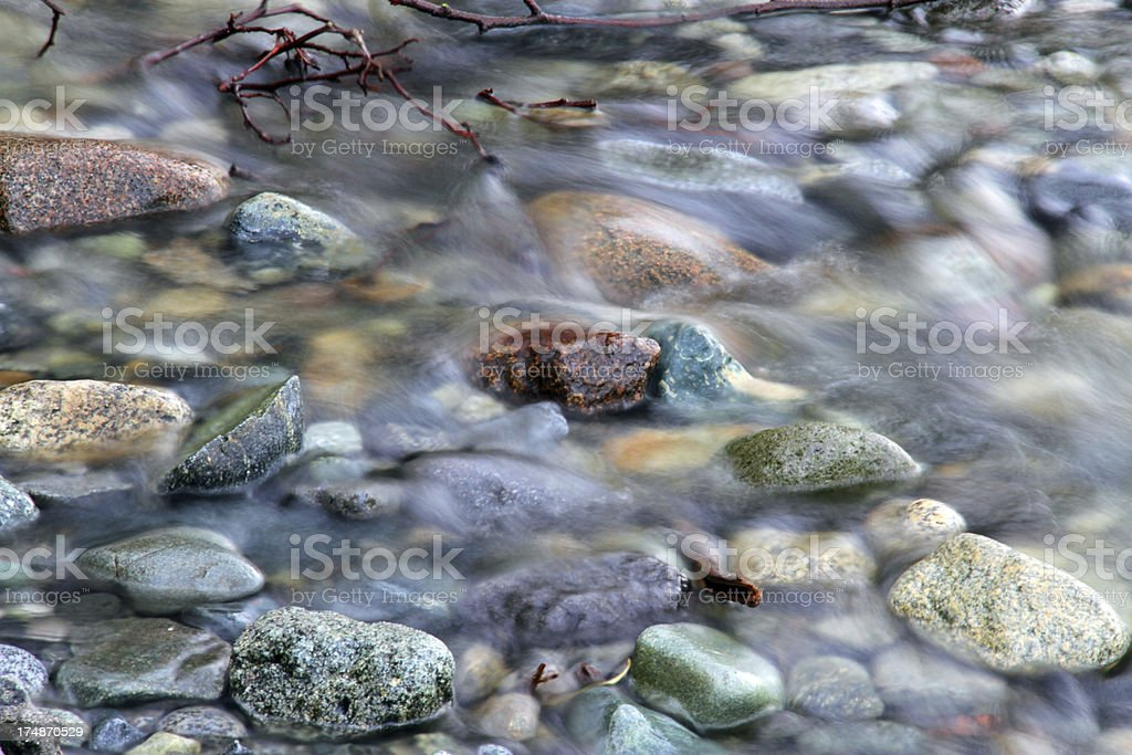 Stones in the Stream royalty-free stock photo