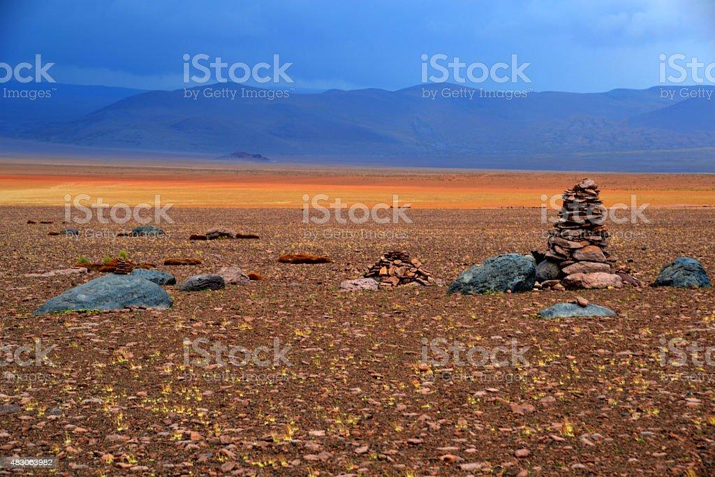 Stones in Uyuni stock photo