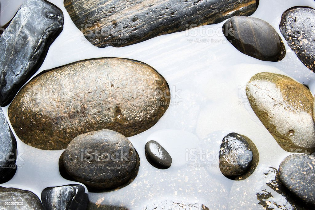 Stones in Water stock photo