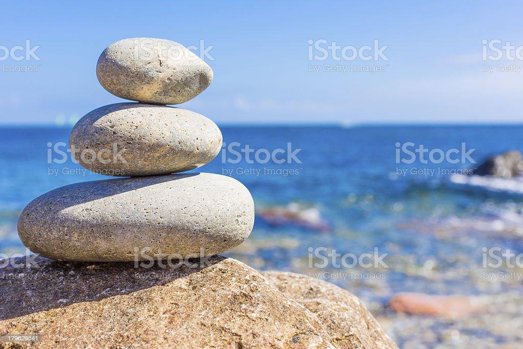Stones into the sea royalty-free stock photo