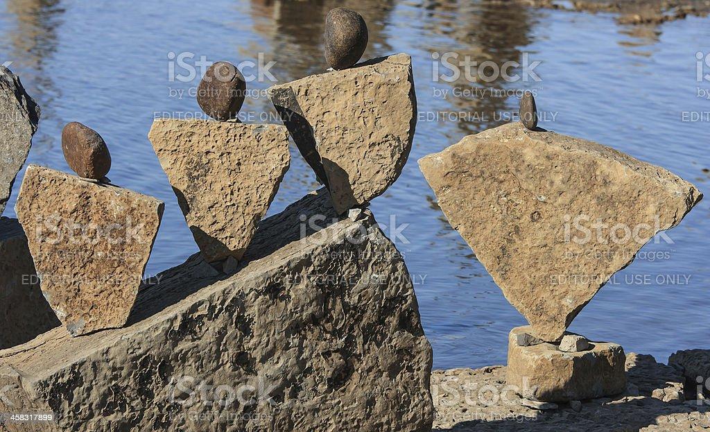 Stones Like People royalty-free stock photo