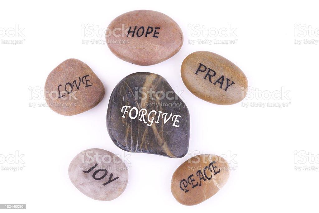 Stones of Faith royalty-free stock photo