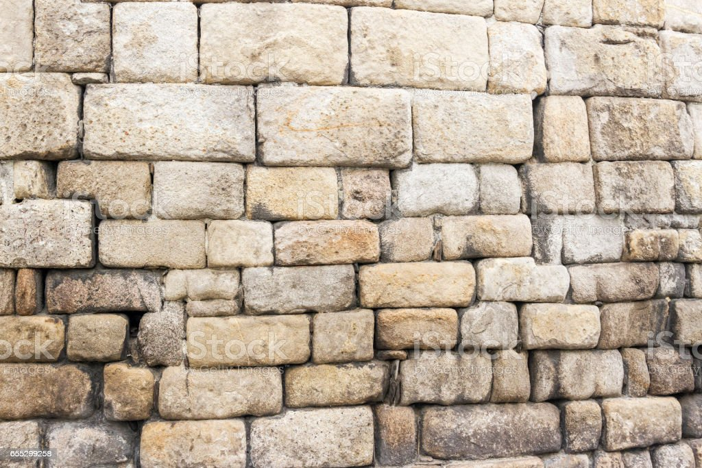 Stones of roman wall of Lugo stock photo