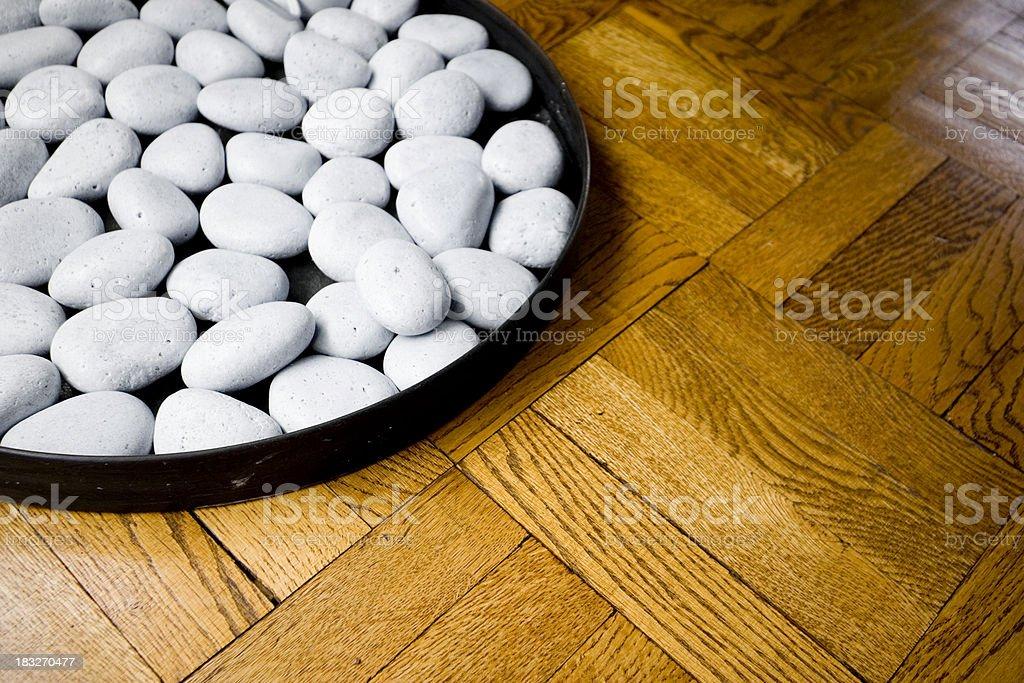 stones on floor stock photo