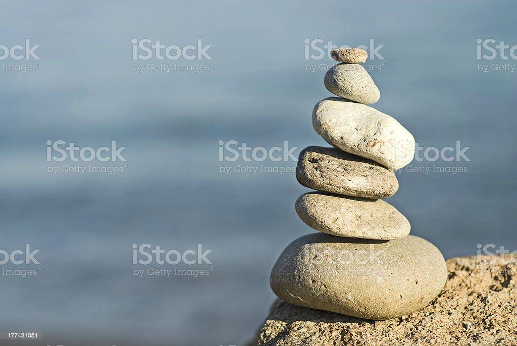 stones on rocks stock photo