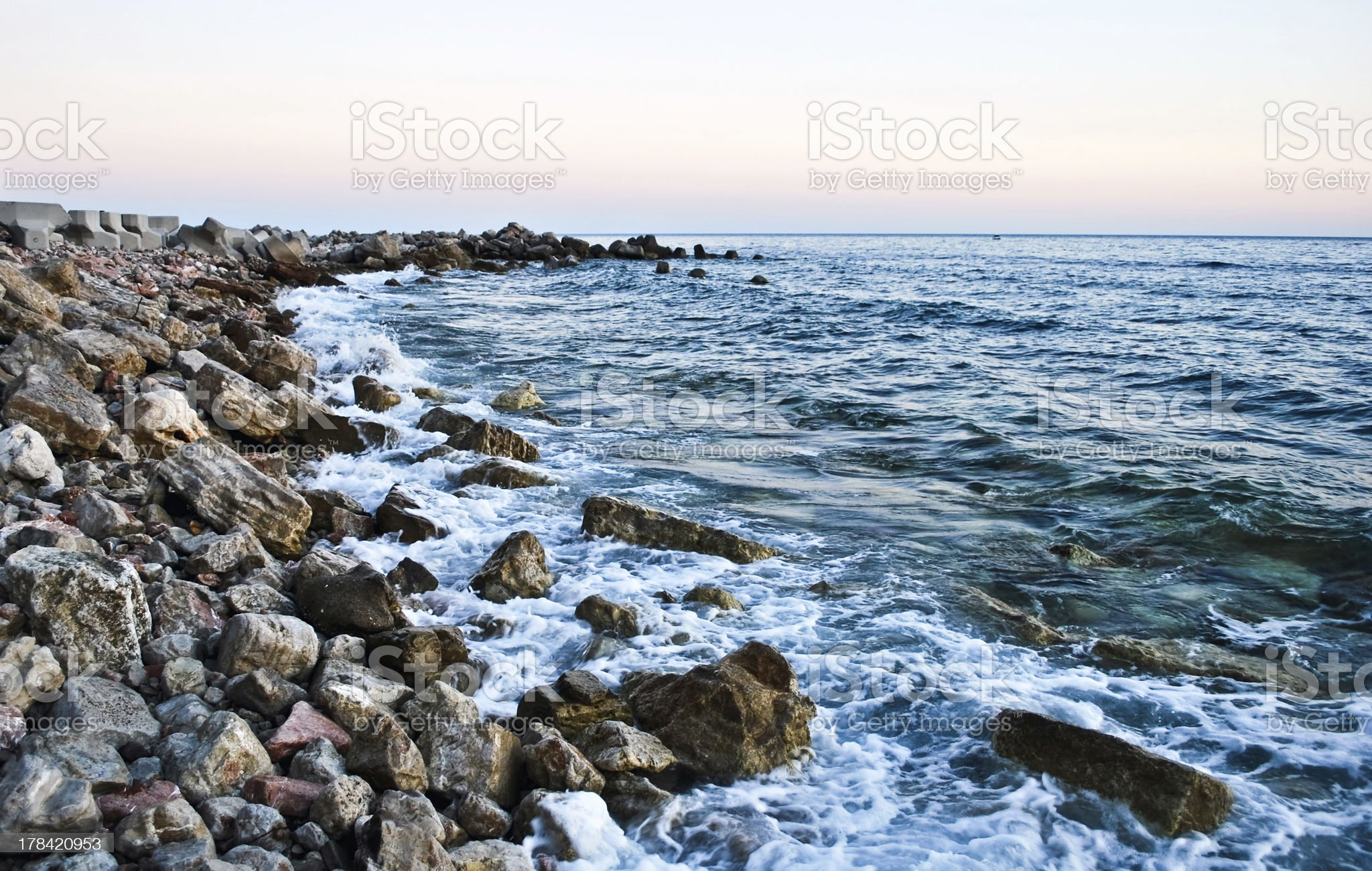 Stones on the Beach royalty-free stock photo