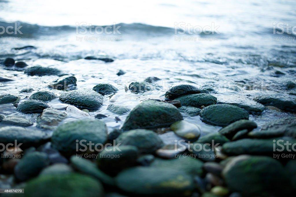 Stones on the beach stock photo
