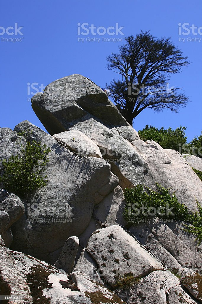 Stones on the blue sky Sintra, Portugal stock photo