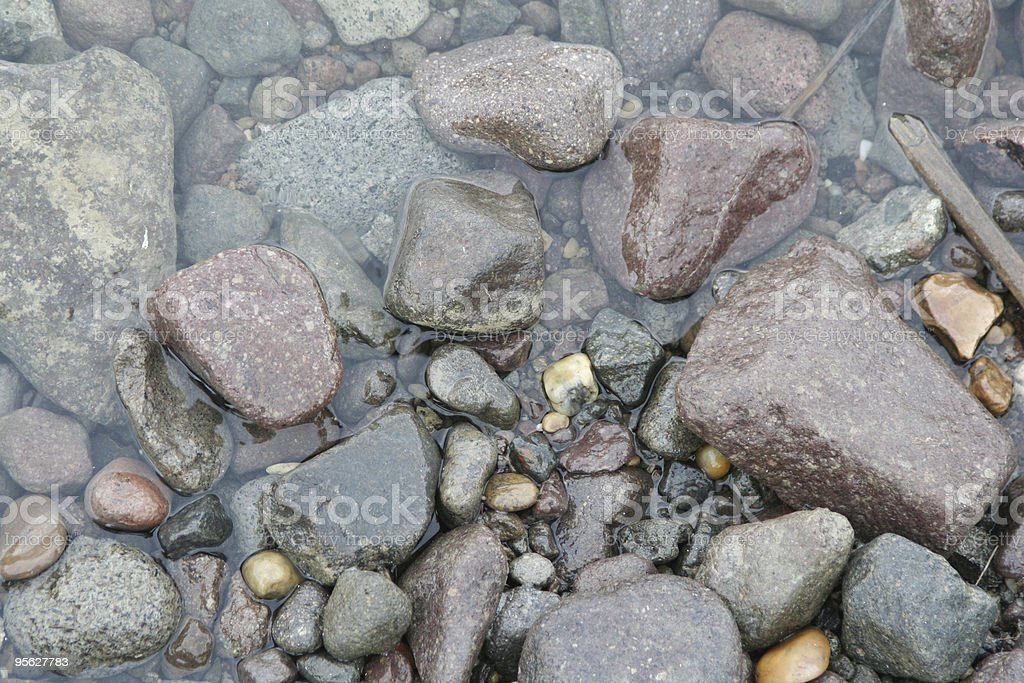 Stones on the coast royalty-free stock photo