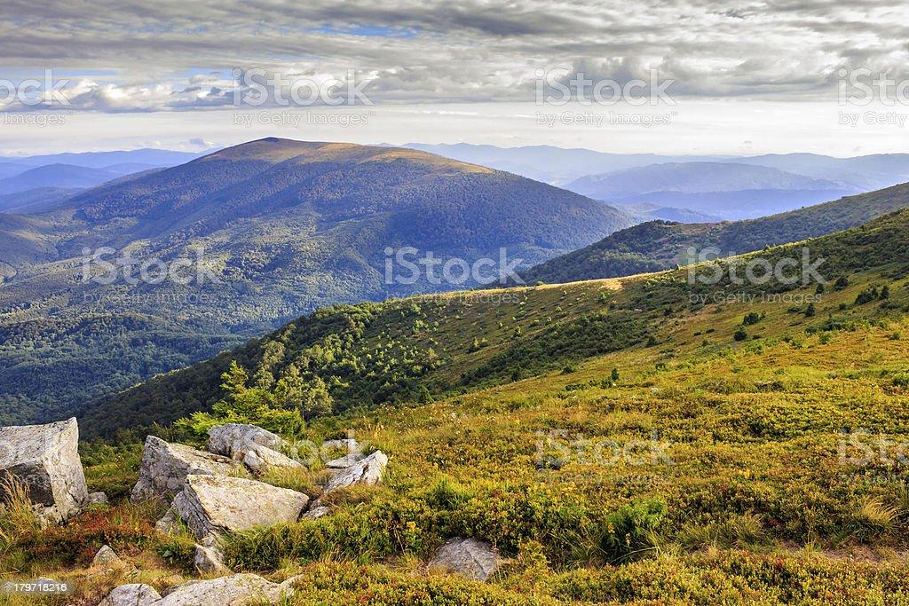 stones on the hillside royalty-free stock photo