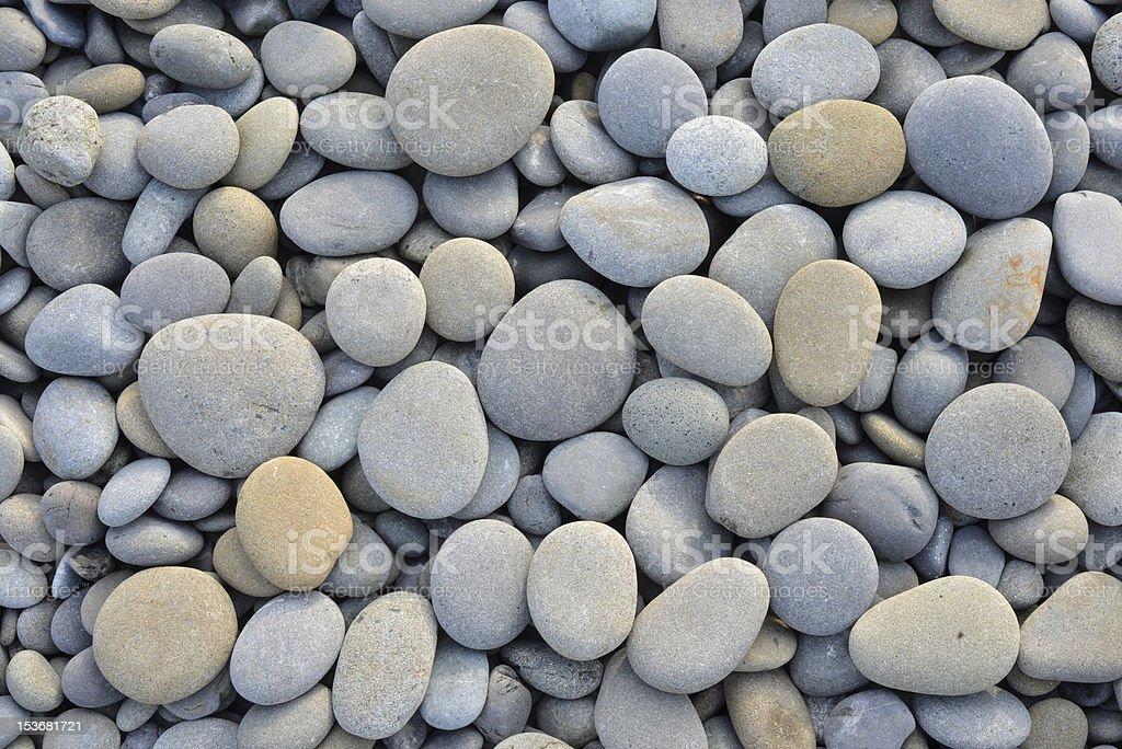 Stones on the ocean beach stock photo