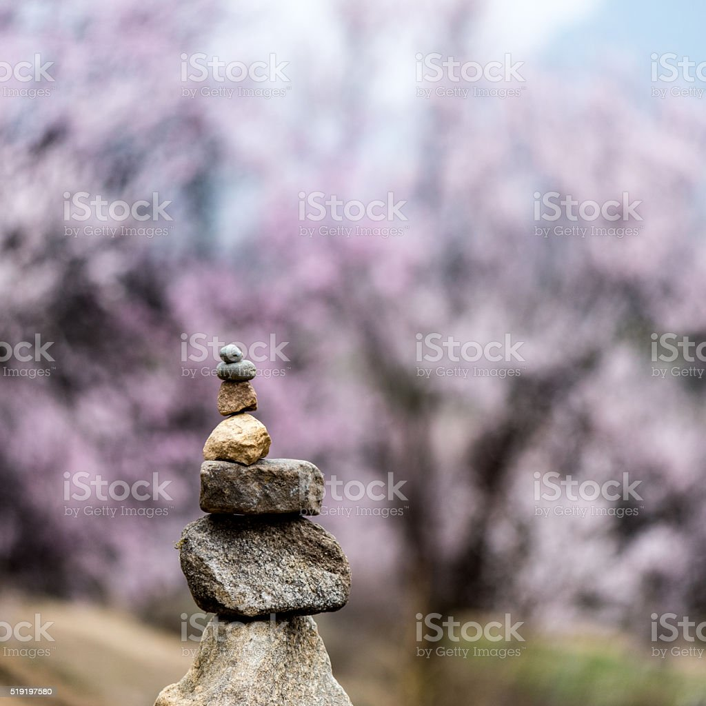 Mani paryer stones stock photo