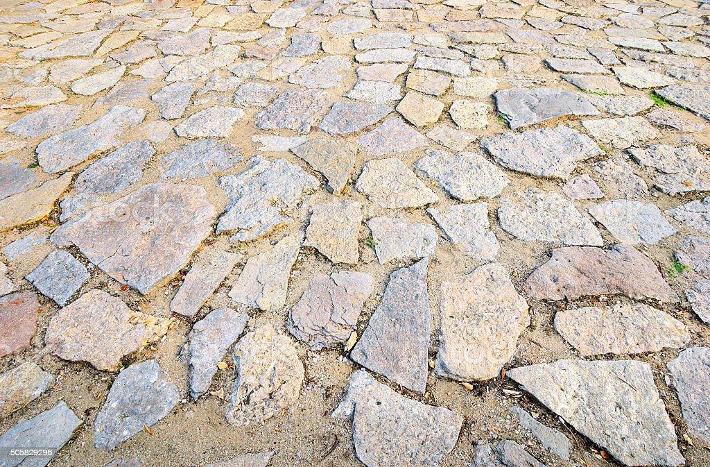 Stones pavement stock photo